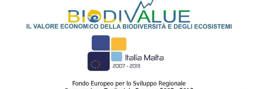 Relazioni finali delle attività svolte nell'ambito del progetto BIODIVALUE