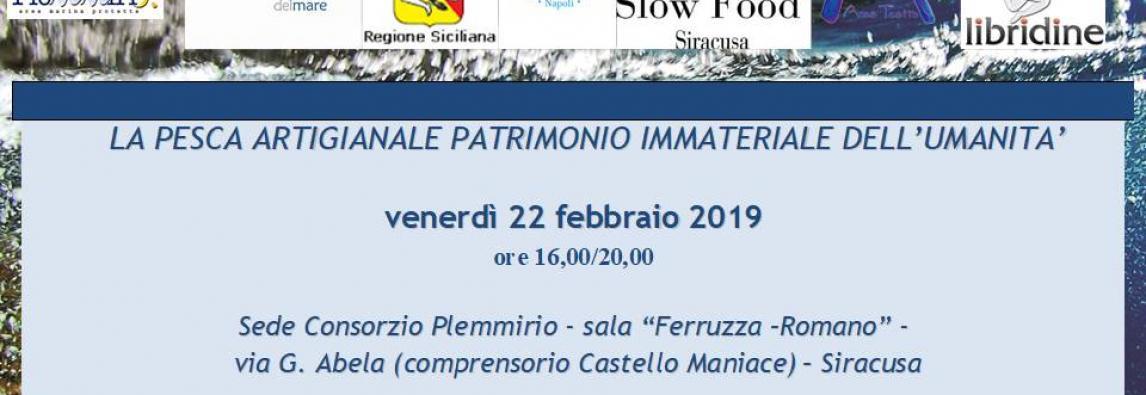 """SAVE THE DATE – CONVEGNO """"LA PESCA ARTIGIANALE PATRIMONIO IMMATERIALE DELL'UMANITA'"""""""