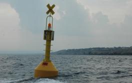Pulizia delle boe di delimitazione area marina