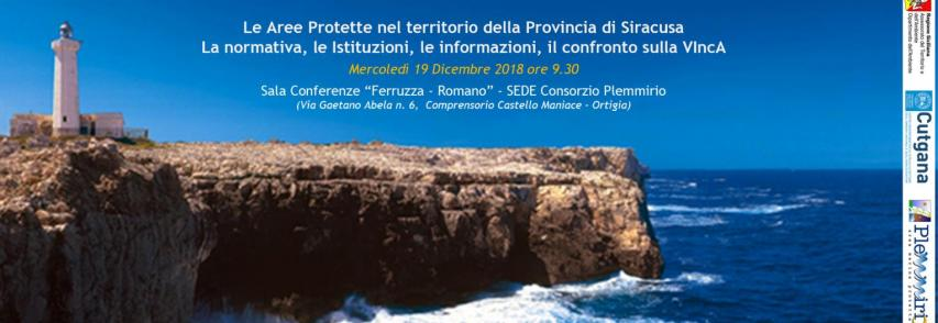 Domani convegno sulla Valutazione di Incidenza Ambientale nella sede dell'AMP Plemmirio