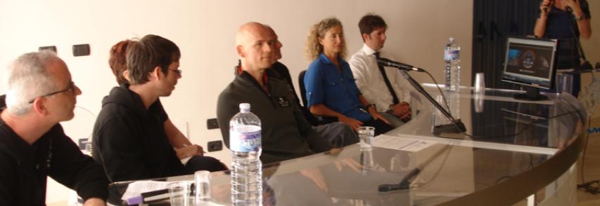 Conferenza stampa sul trimarano Brigitte Bardot