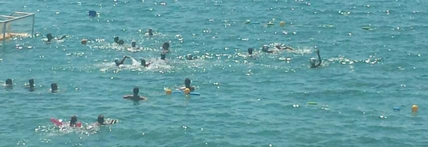 Un campo di pallanuoto nell'area marina protetta del Plemmirio