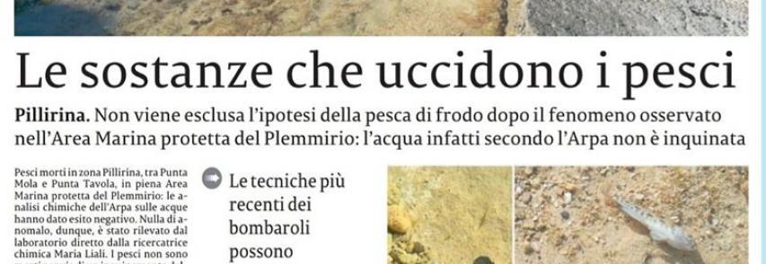 La Sicilia – le sostanze che uccidono i pesci di *Massimiliano Torneo