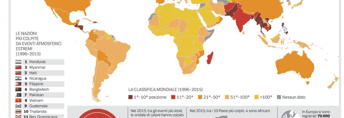 La mappa globale del clima impazzito